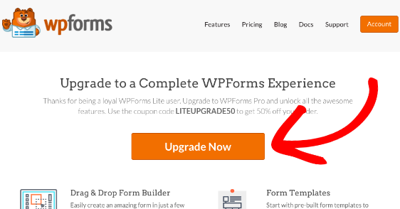 Upgrade from free to paid version of WPForms