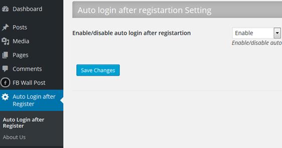 auto login after registration