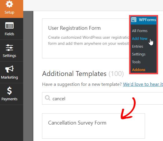 cancellation survey form template