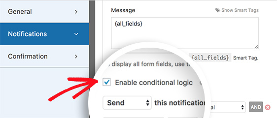 Enable conditional logic