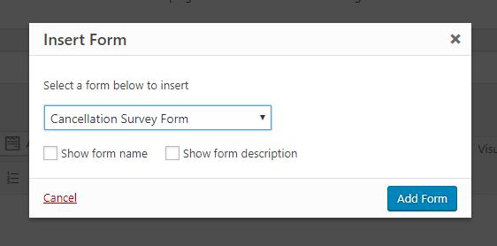 publish cancellation survey form
