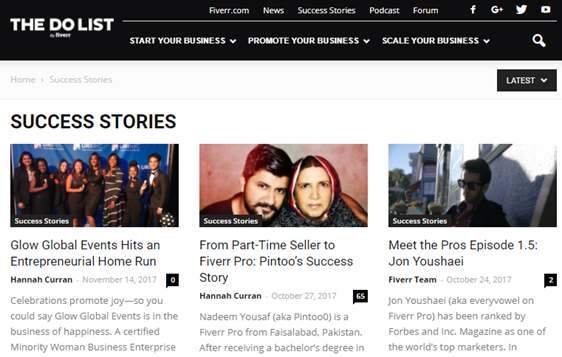 publish success stories as user generated content examples
