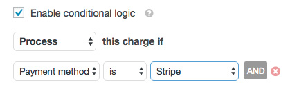 Enable Stripe conditional settings