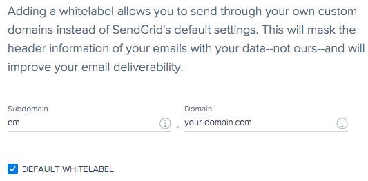 Add new domain whitelabel to SendGrid