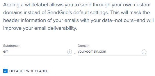Add new domain whitelabel to SendGrid