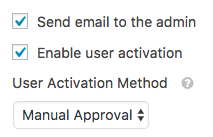 Admin email settings for WPForms user registration