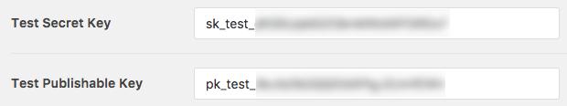 Copy test keys into WPForms settings