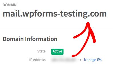 Domain name for Mailgun