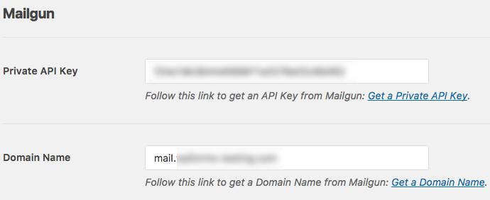 Enter Mailgun settings in WP Mail SMTP