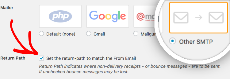 Select mailer in WP Mail SMTP