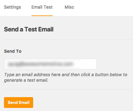 Send a test email through WP Mail SMTP
