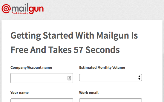 Sign up for a Mailgun account