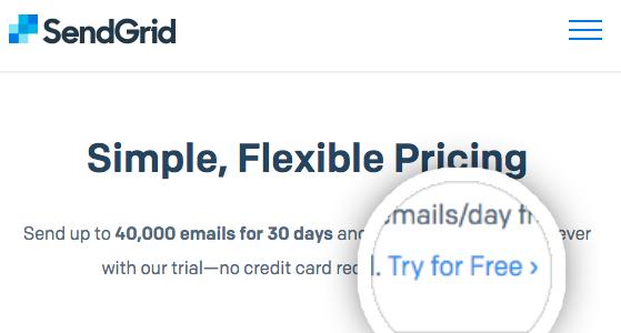 Try a free SendGrid account