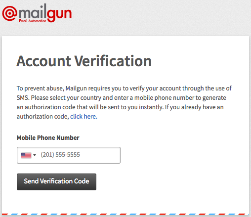 Verify Mailgun account