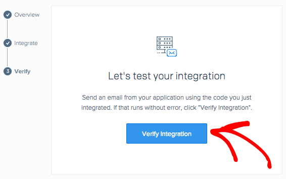 Verify integration in SendGrid