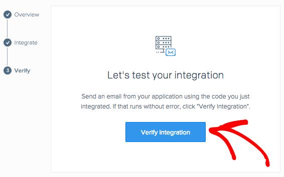 Verify integration in SendGrid