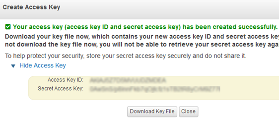 access key amazon s3