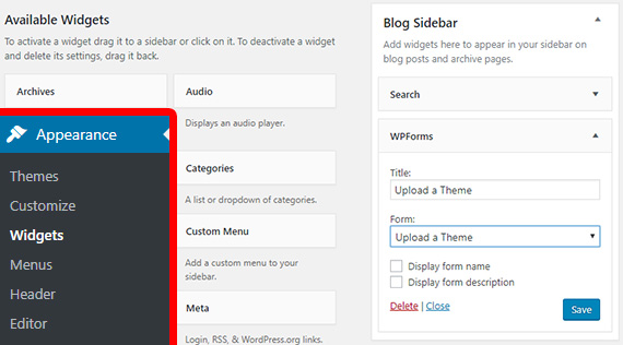 how to create a widget in wordpress step by step