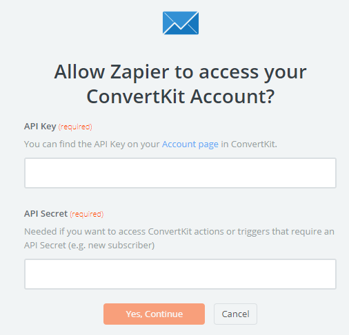 allow zapier integration with convertkit