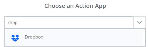 choose dropbox app