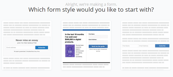 choose form template