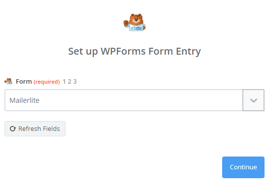 choose mailerlite form