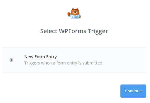 click new form entry