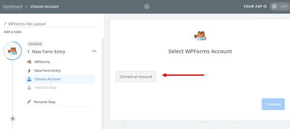 select wpforms account