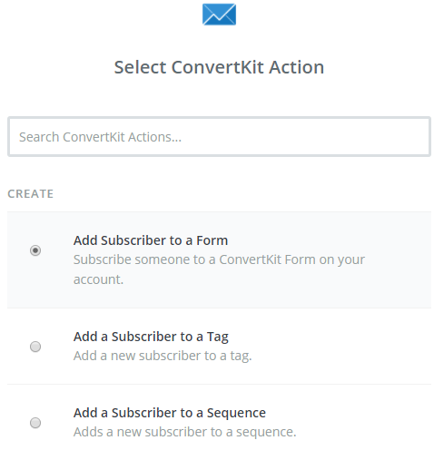 convertkit contact form action