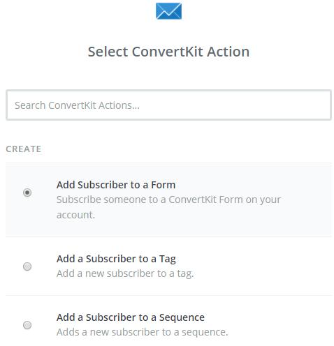convertkit action