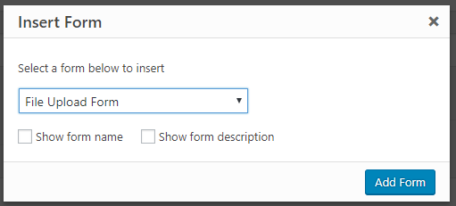 embed file upload form