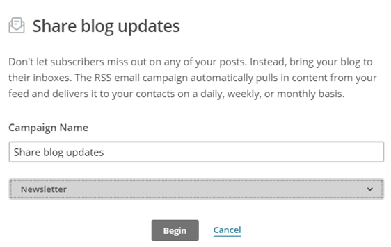 mailchimp rss to email newsletter