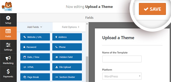 save your file upload form