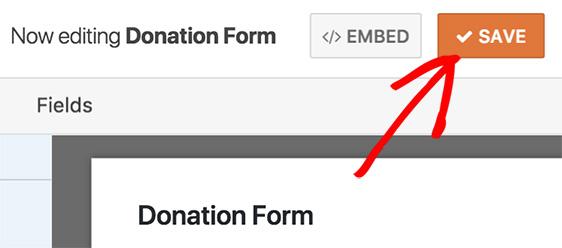 Save form