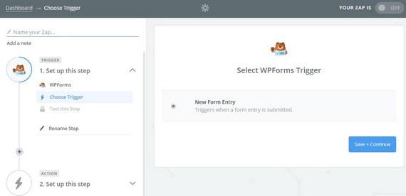 select wpforms trigger to send wordpress uploads to google drive