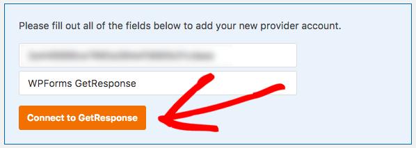 Add API and nickname to GetResponse settings