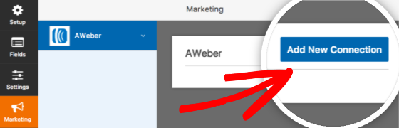 Add new connection for AWeber in WPForms