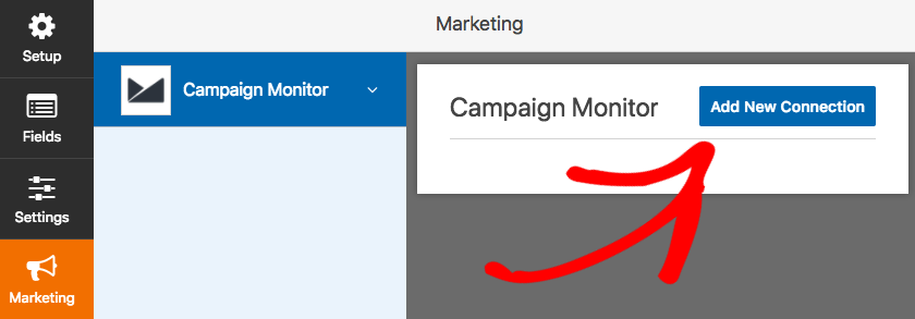 Add new connection for Campaign Monitor in WPForms