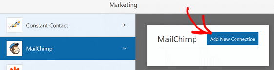 Create MailChimp Custom Fields - MailChimp Addon Settings, Add New Connection