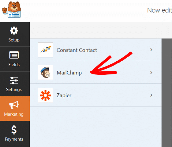 Create MailChimp Custom Fields - MailChimp Addon Settings