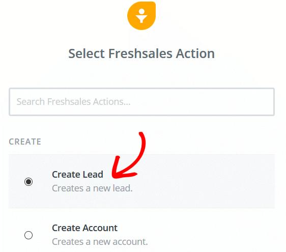 Create a Freshsales Lead Form - Freshsales Create Lead