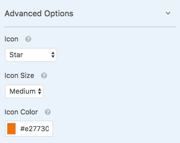 Customize icon options for WPForms ratings field