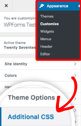 Open WordPress CSS editor