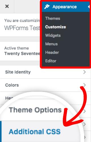 Open WordPress CSS editor