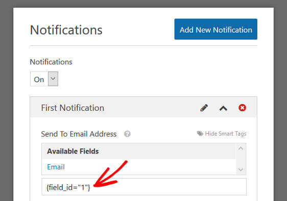WPForms Order Form Email Receipt - New Notification, Smart Tags