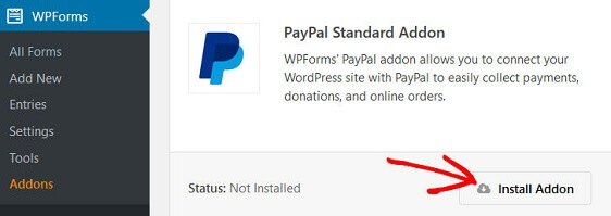 WPForms Order Form Email Receipt - PayPal Addon
