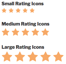 WPForms rating icon size options