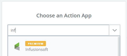 choose infusionsoft in zapier