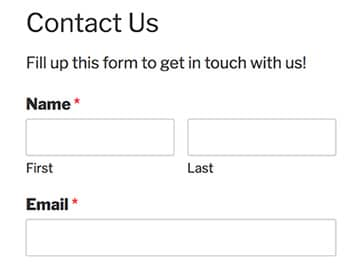 form name and description on frontend