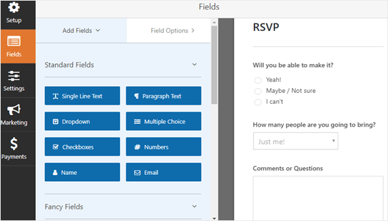 how to create an rsvp form in wordpress step by step tutorial